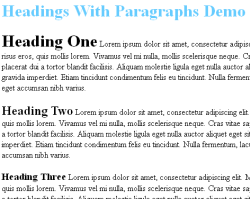 headings