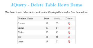 Deleting Table Rows Using JQuery and PHP | Sarfraz Ahmed's Blog