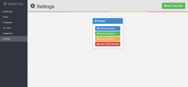 localhost todo settings